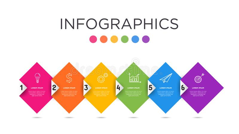 Calibre polychrome d'Infographic de label d'affaires image stock