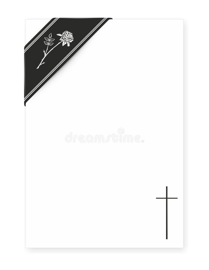 Calibre pour des nécrologies illustration stock