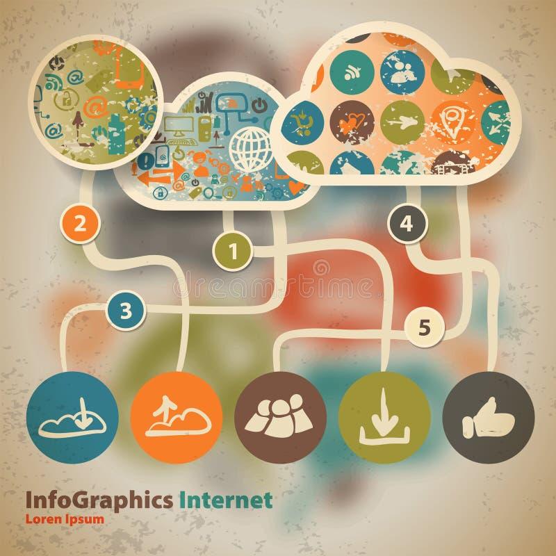 Calibre pour infographic avec le contenu dans le nuage illustration de vecteur