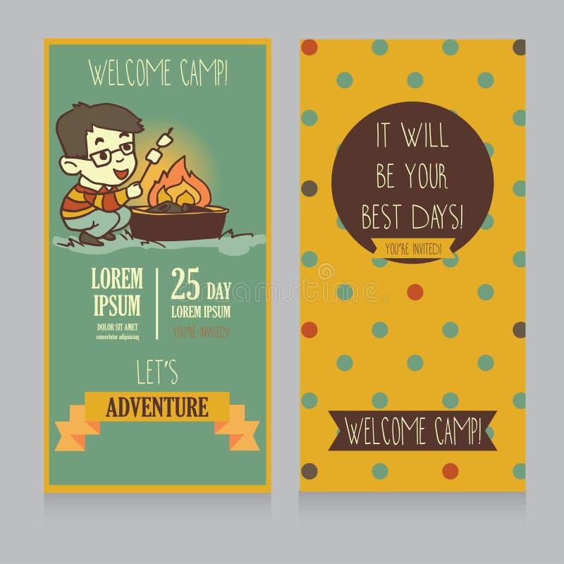 Calibre pour l'invitation de camp/pique-nique illustration stock