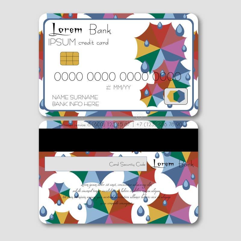 Download Calibre Pour La Carte De Crédit Avec Les Parapluies Colorés Illustration de Vecteur - Illustration du illustration, vert: 77159161