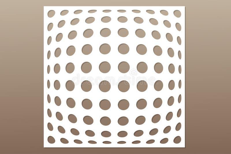 Calibre pour la coupure Modèle géométrique de cercle Coupe de laser 1:1 de rapport Illustration de vecteur illustration libre de droits