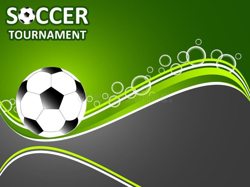 Calibre pour le tournoi du football d'invitation illustration de vecteur