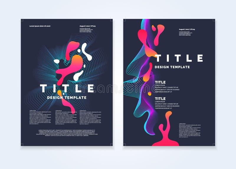 Calibre pour une magazine au sujet de la musique, affiche moderne illustration stock