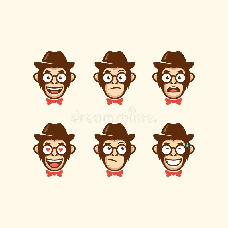 Calibre principal abstrait de vecteur d'illustration de cowboy illustration libre de droits