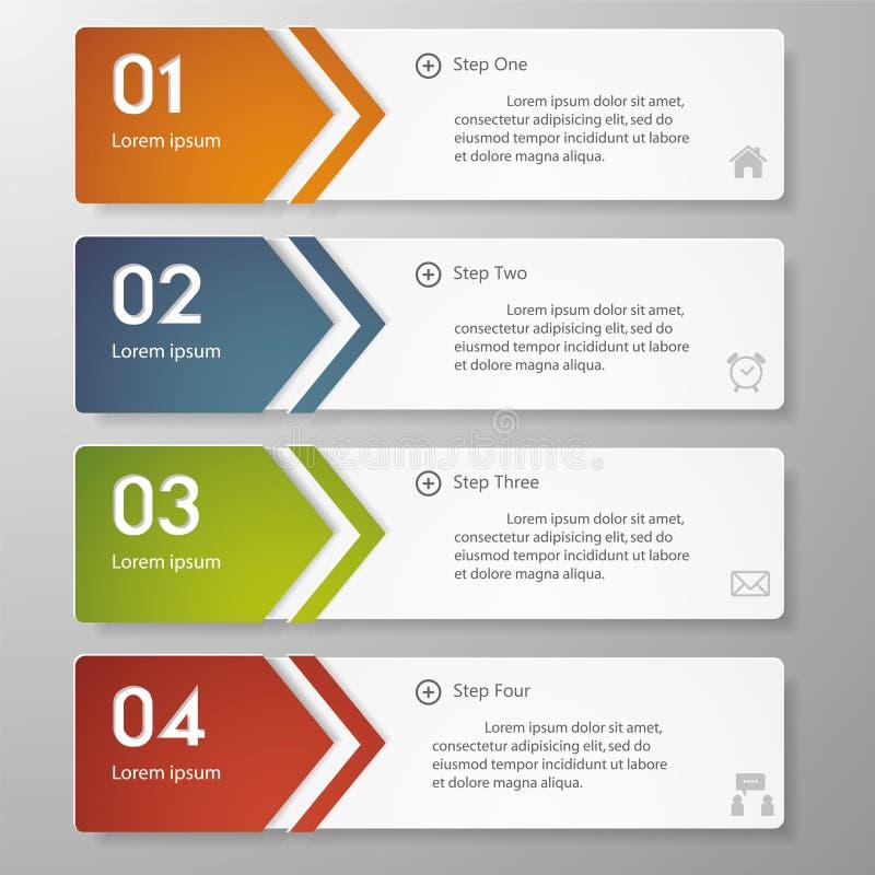 Calibre propre de bannières de nombre de conception illustration stock