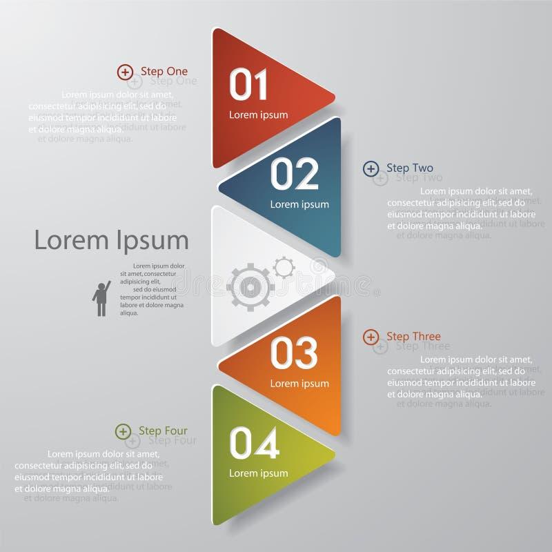 Calibre propre de bannières de nombre de conception. illustration libre de droits