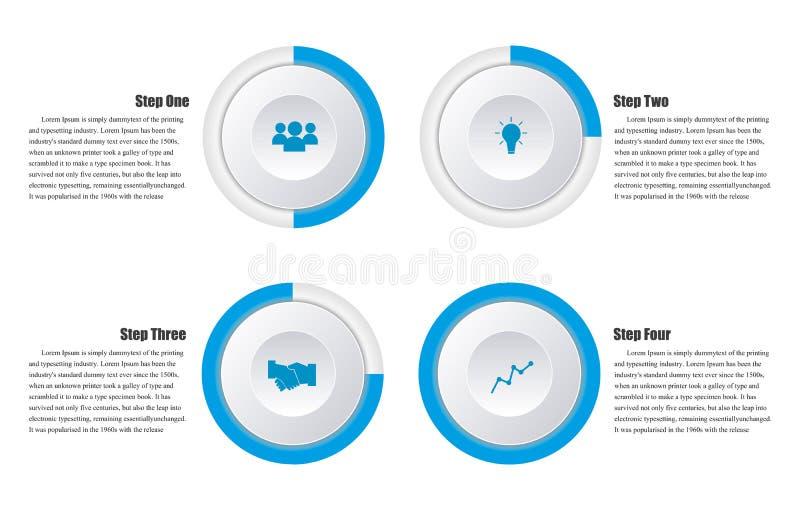 Calibre propre de bannières de nombre de conception Disposition de dessin ou de site Web illustration libre de droits