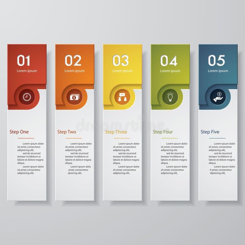 Calibre propre de bannières de nombre de conception Vecteur illustration stock