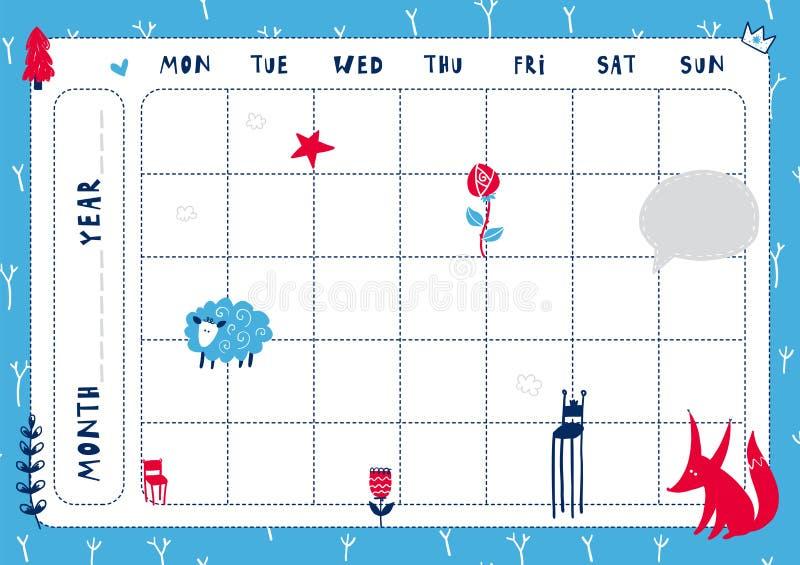 Calibre quotidien de planificateur illustration libre de droits