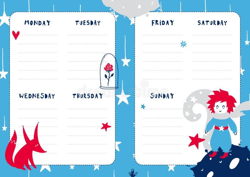 Calibre quotidien de planificateur illustration de vecteur