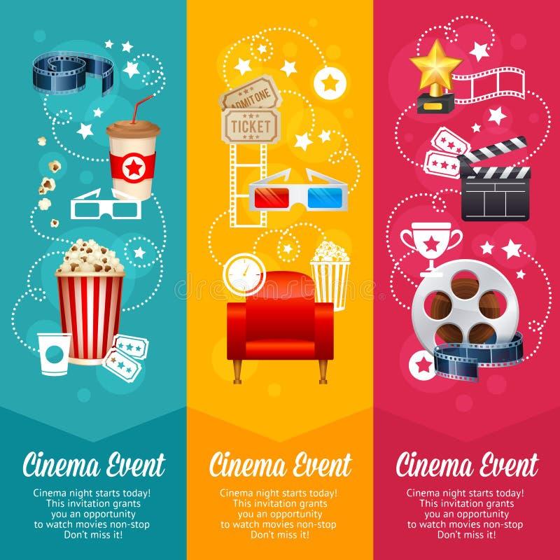 Calibre réaliste d'affiche de film de cinéma illustration stock