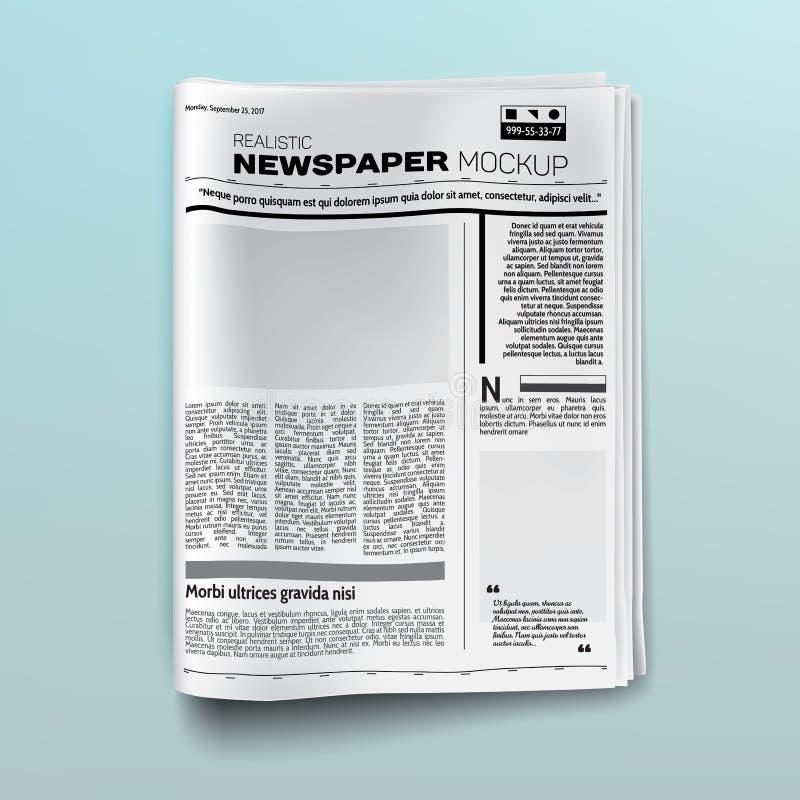 Calibre réaliste de maquette de magazine de journal pour vos conceptions illustration de vecteur