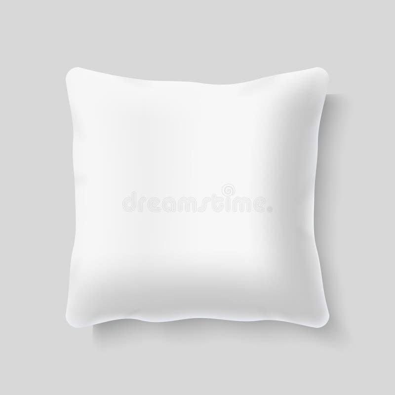Calibre réaliste vide de vecteur de coussin d'oreiller de place blanche illustration de vecteur