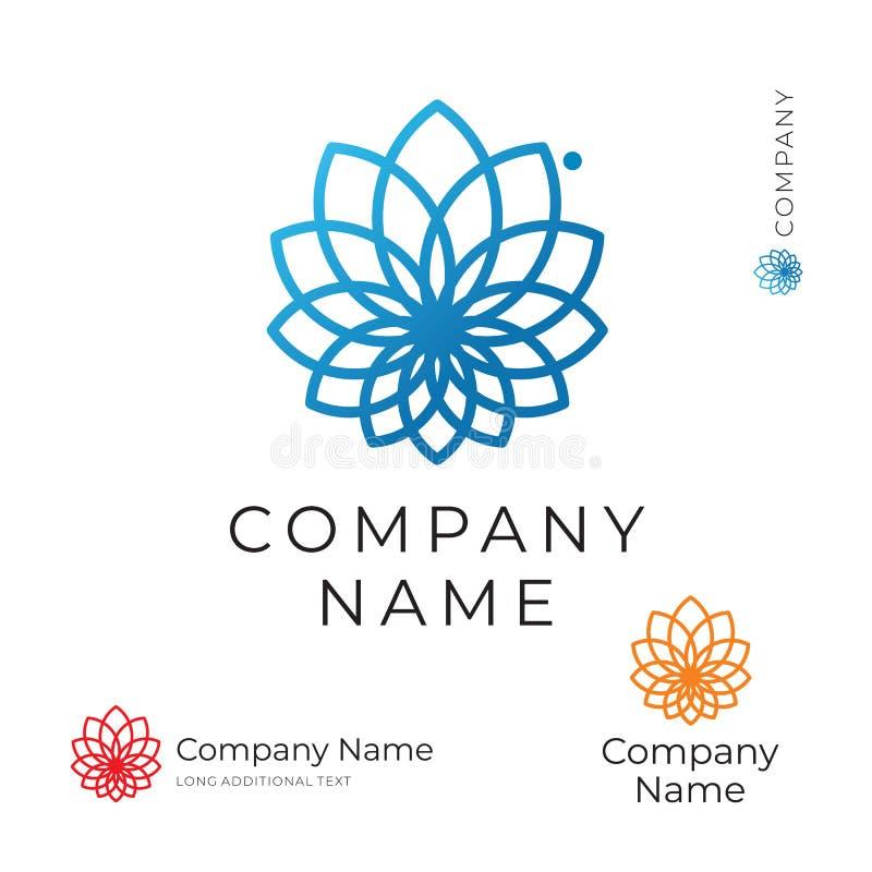 Calibre réglé de beau de découpe de fleur concept moderne de Logo Identity Brand Icon Symbol illustration stock