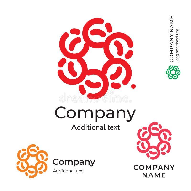 Calibre réglé de concept traditionnel d'icône de symbole de marque de beauté de Logo Ornament Stylish Folk Identity de fleur illustration stock