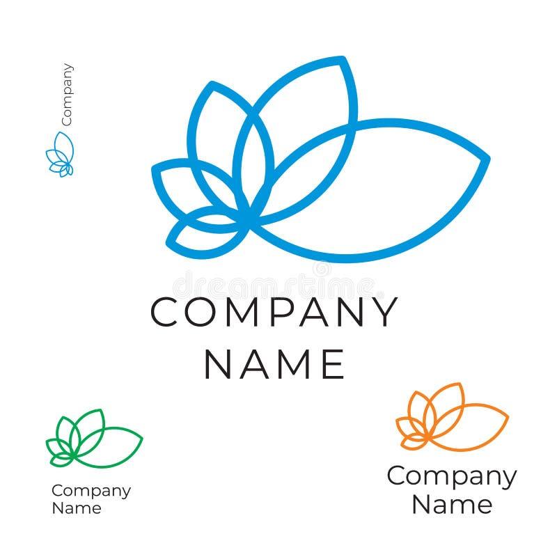 Calibre réglé de découpe de fleur de concept moderne de Logo Identity Brand Icon Symbol illustration libre de droits