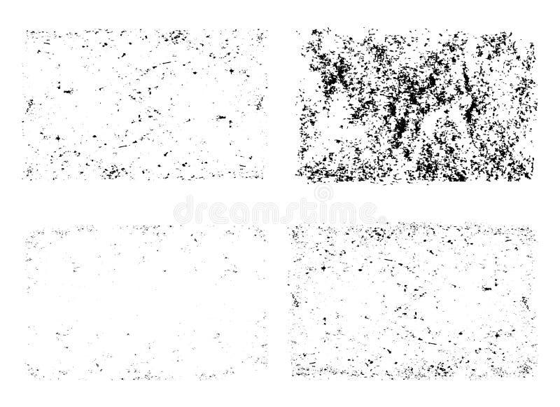 Calibre réglé de vecteur unique de textures de grunge illustration stock