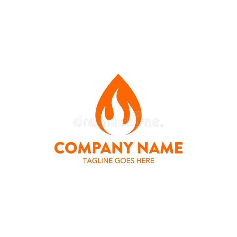 Calibre relatif de logo de flamme unique Vecteur editable illustration de vecteur