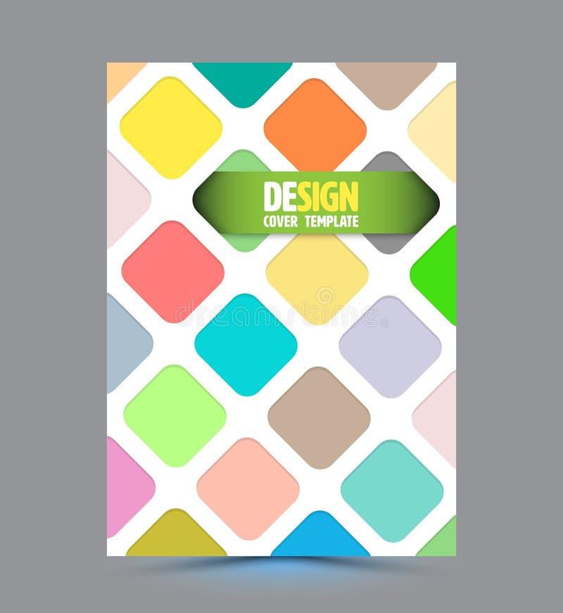 Calibre rond abstrait de vecteur de conception de rectangle illustration de vecteur