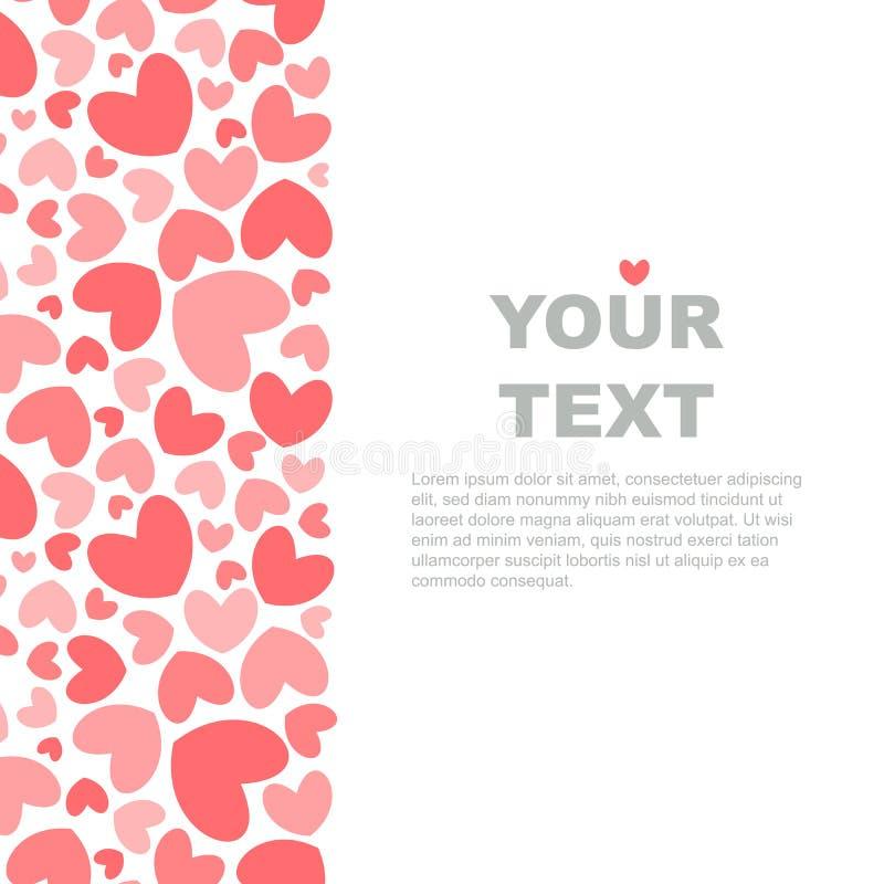 Calibre rose de bannière de coeurs illustration libre de droits