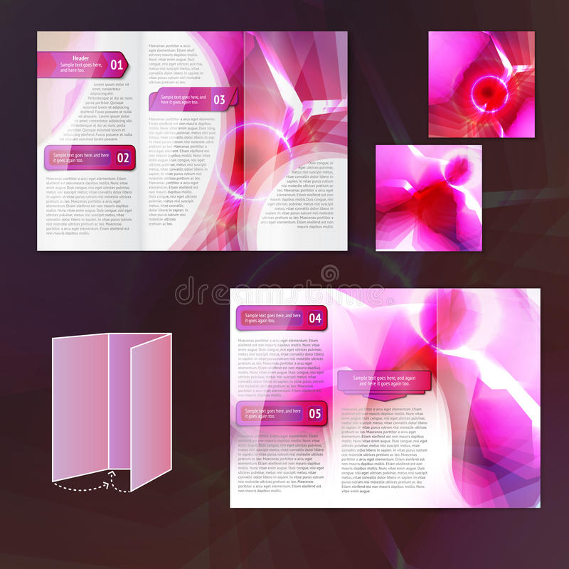 Calibre rose de brochure illustration de vecteur