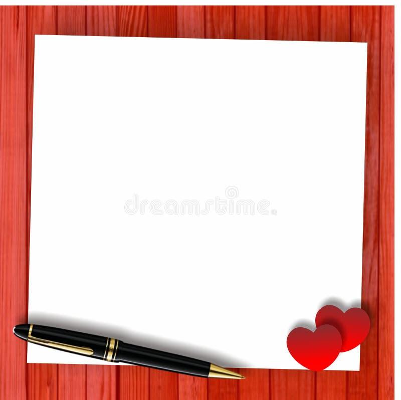 Calibre rouge de carte de Valentine illustration libre de droits