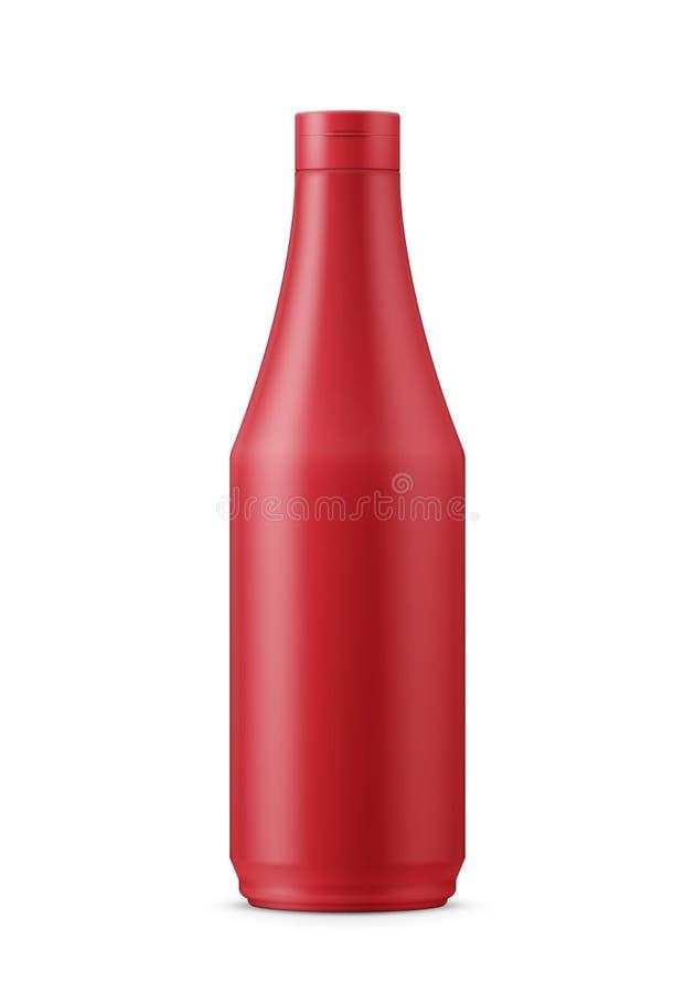 Calibre rouge de ketchup illustration libre de droits
