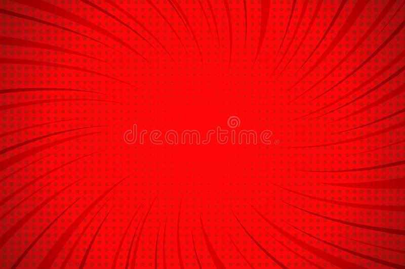 Calibre rouge explosif comique illustration libre de droits