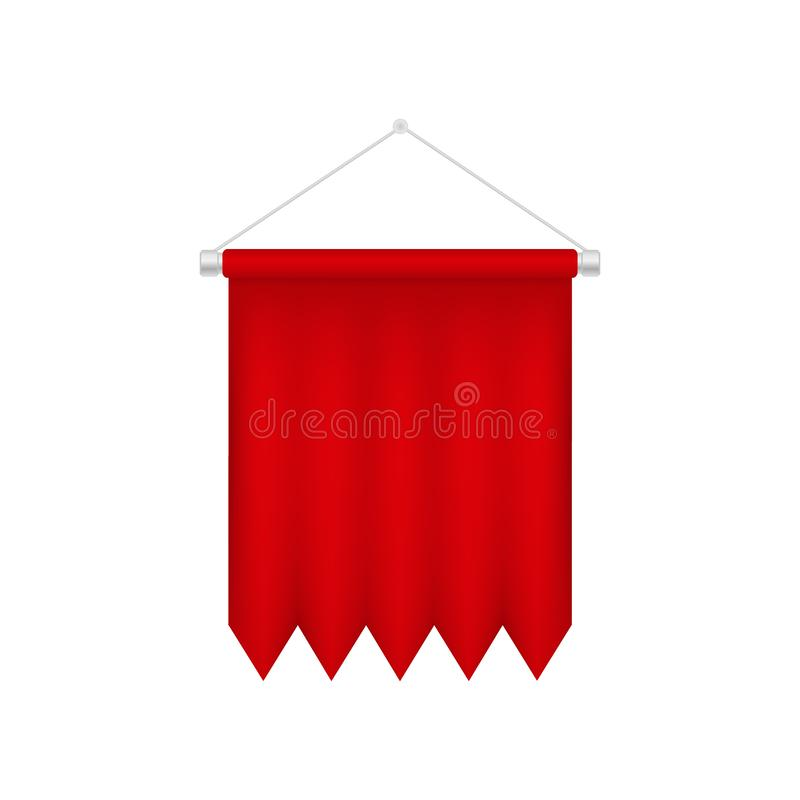 Calibre rouge vertical de fanion Drapeau 3D vide illustration de vecteur