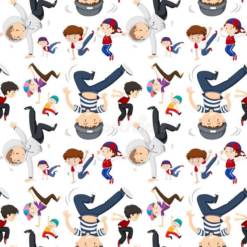 Calibre sans couture de fond avec la danse d'enfants illustration stock