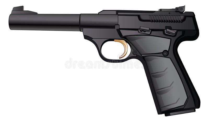 Calibre semiautomático 22 del arma stock de ilustración