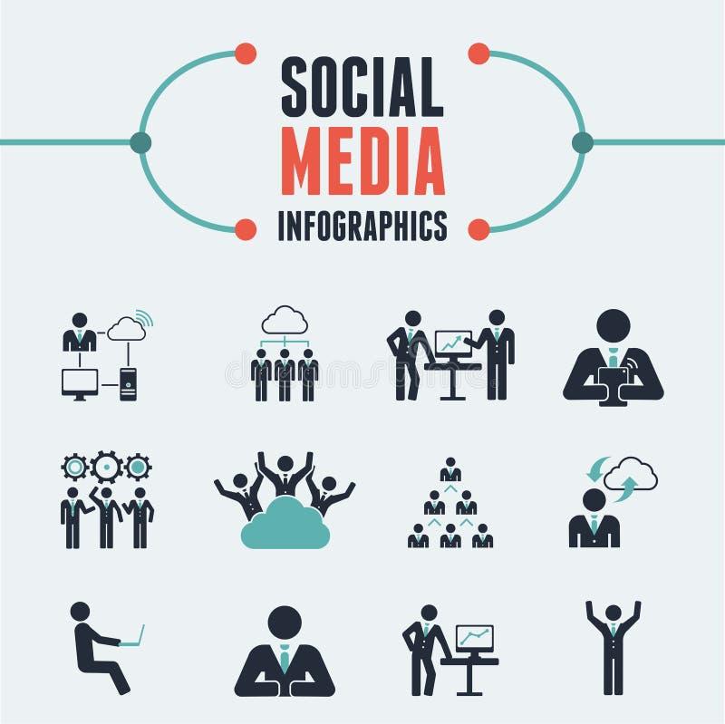 Calibre social d'Infographic de media. illustration stock