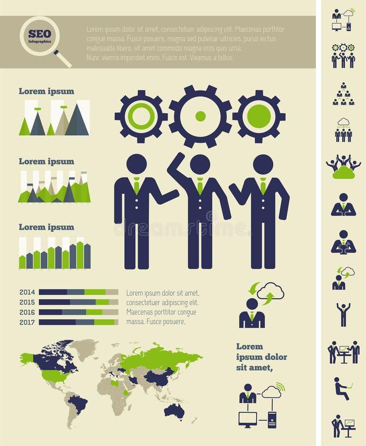 Calibre social d'Infographic de media. illustration de vecteur