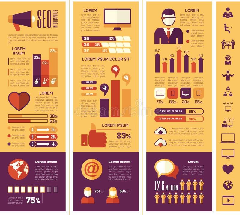 Calibre social d'Infographic de media illustration de vecteur