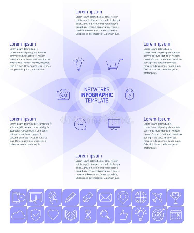 Calibre social d'Infographic de media illustration stock