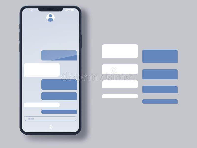 Calibre social de page de messager de réseau Affaires et services de communication privés illustration libre de droits