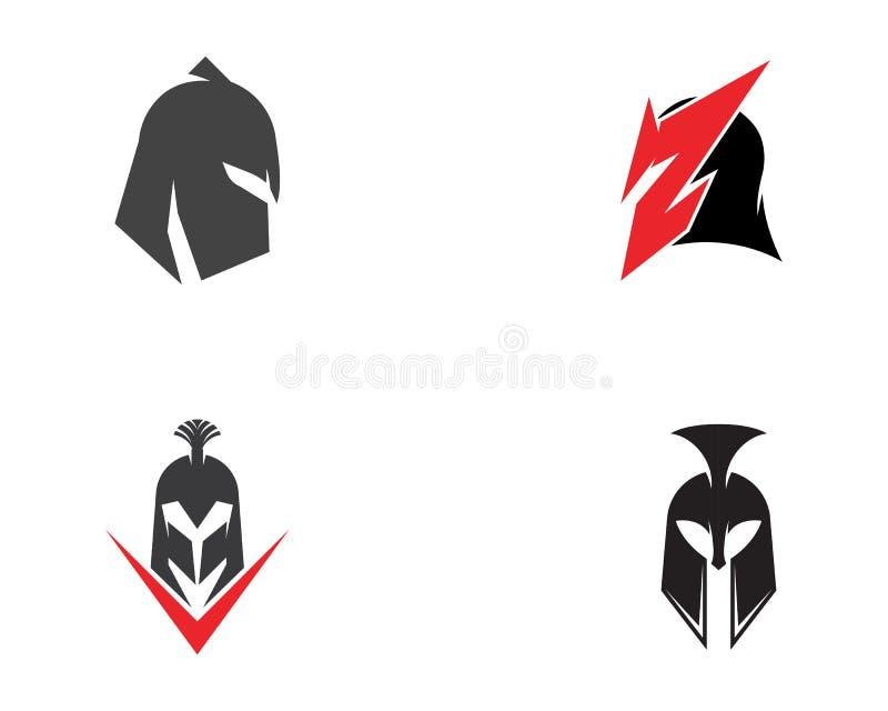 Calibre spartiate de logo de casque illustration stock