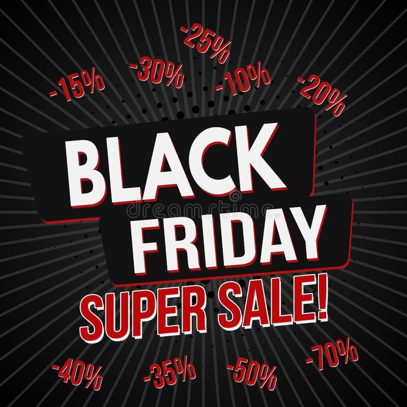 Calibre superbe noir de bannière de vente de vendredi illustration libre de droits