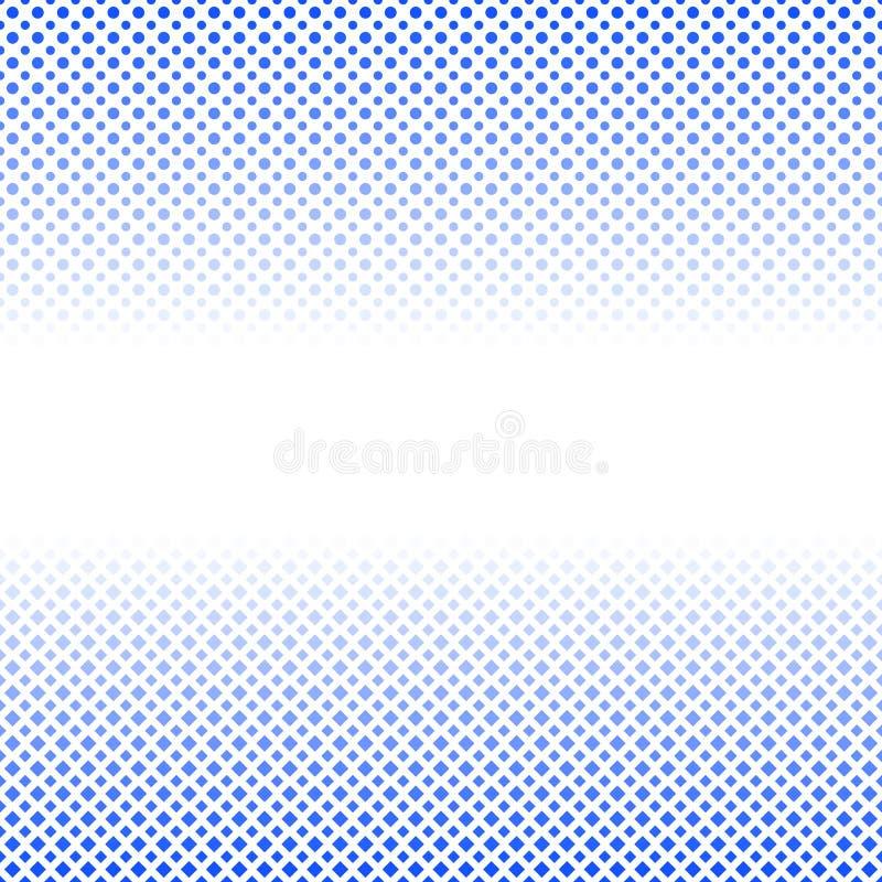 Calibre tramé abstrait géométrique de fond de modèle - conception abstraite de vecteur des places et des points illustration libre de droits