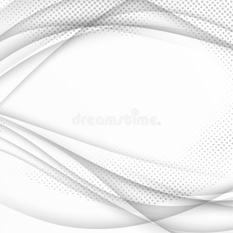 Calibre tramé doux de fond de vague d'abrégé sur gamme de gris fut illustration de vecteur