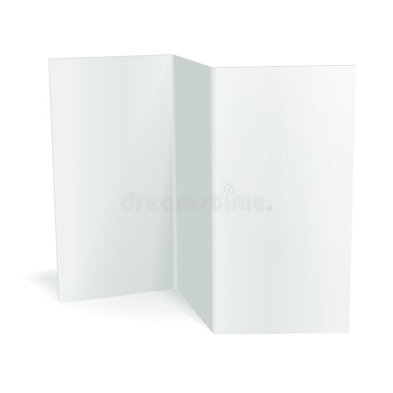 Calibre triple de brochure de vecteur blanc vide illustration de vecteur