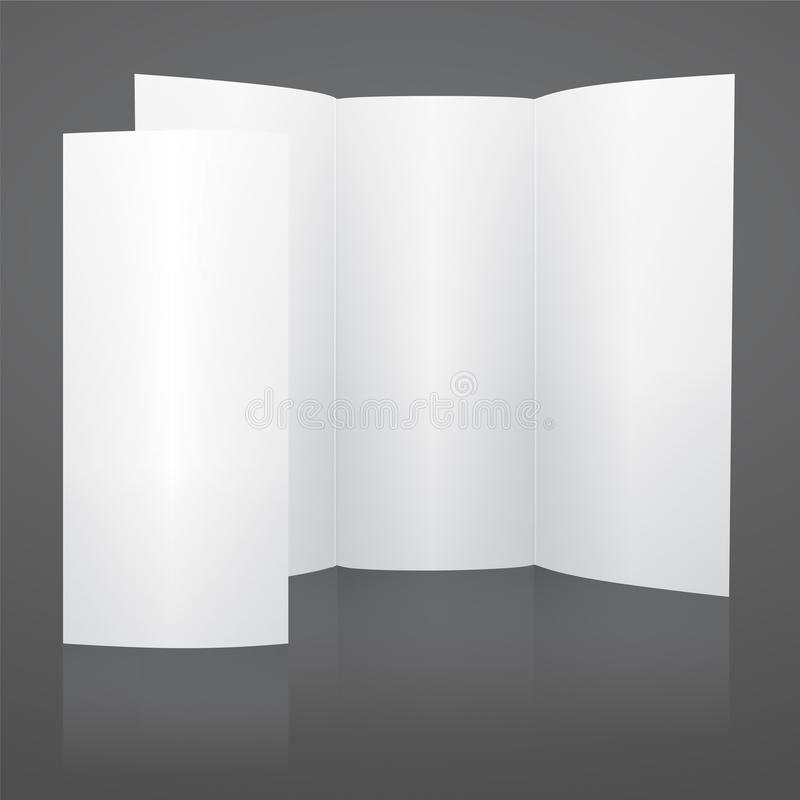 Calibre triple de brochure de vecteur blanc vide illustration libre de droits