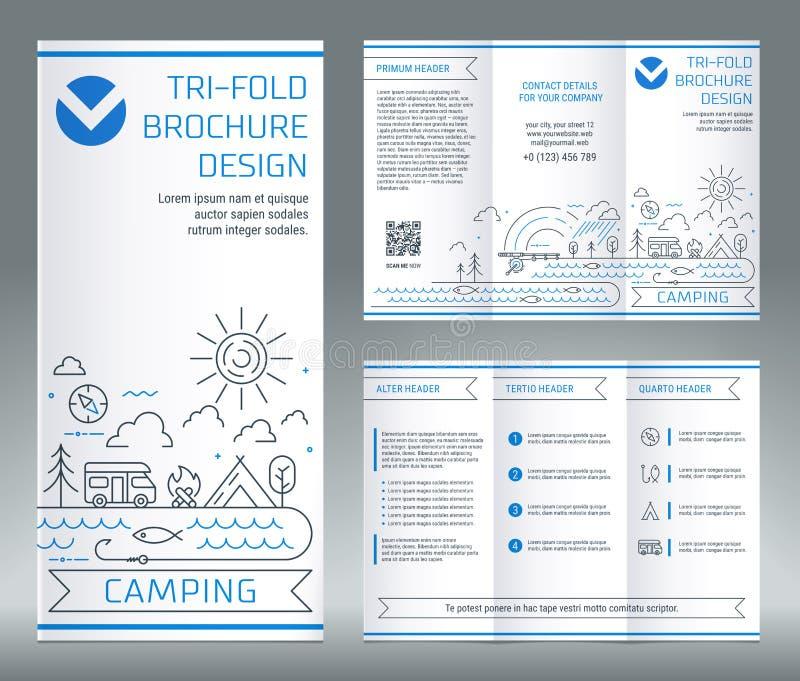 Calibre triple de brochure, sur le sujet de la récréation et du touri illustration stock