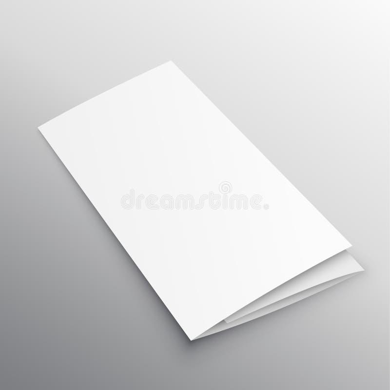 Calibre triple de conception de brochure de maquette illustration de vecteur