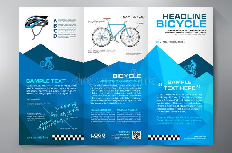 Calibre triple de conception de tract de brochure illustration de vecteur