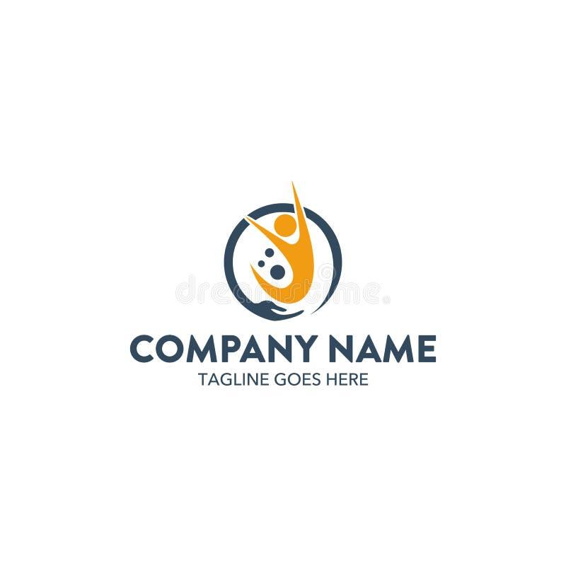Calibre unique de logo de charité Vecteur editable illustration de vecteur
