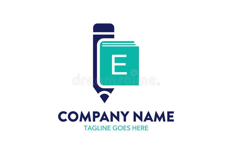 Calibre unique de logo d'éducation illustration stock