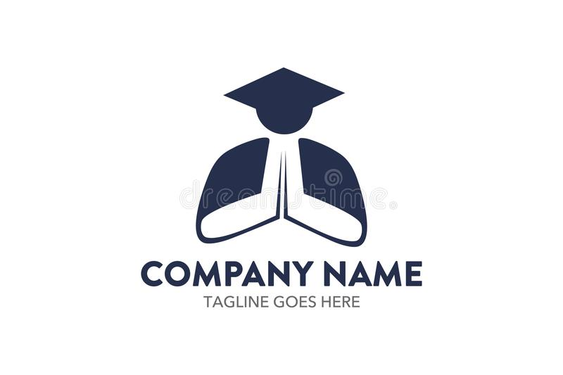 Calibre unique de logo d'éducation illustration stock