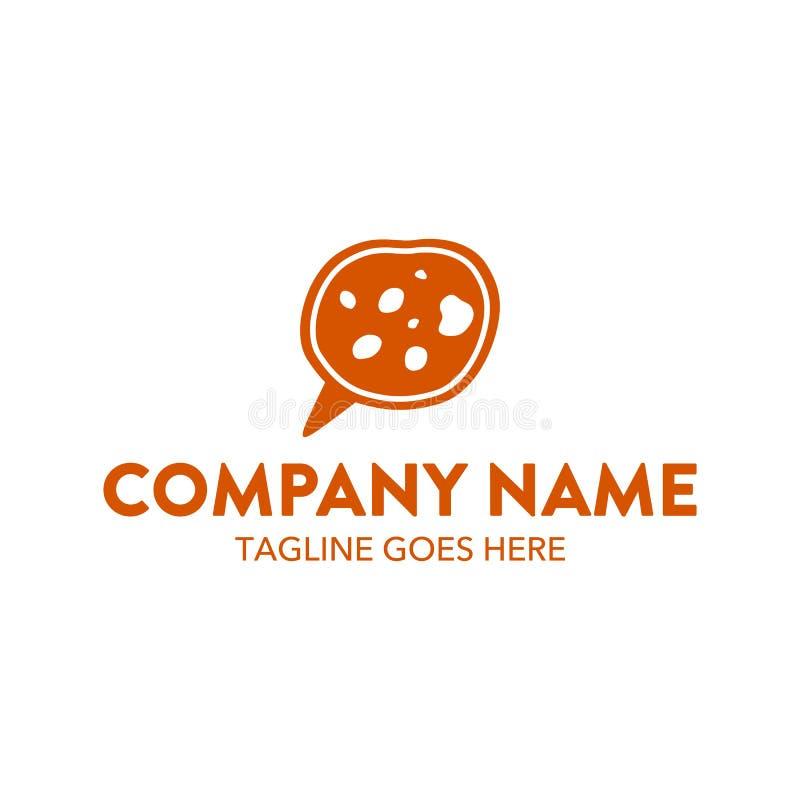 Calibre unique de logo de gâteau et de biscuits Vecteur editable illustration stock
